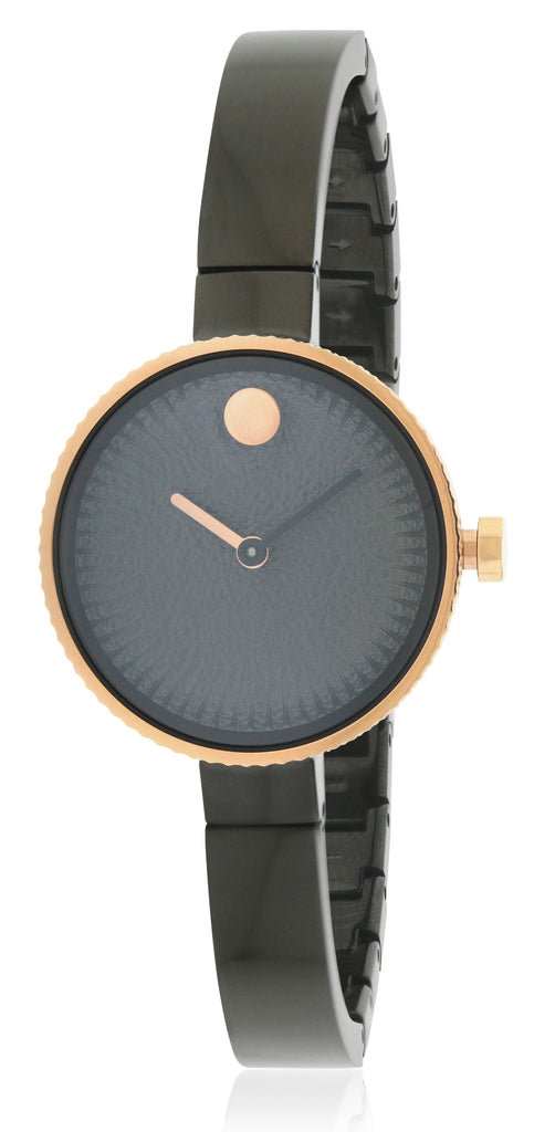 Movado Edge Black Stainless Steel Ladies Watch
