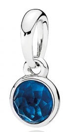 PANDORA December Droplet Pendant - London Blue Crystal -