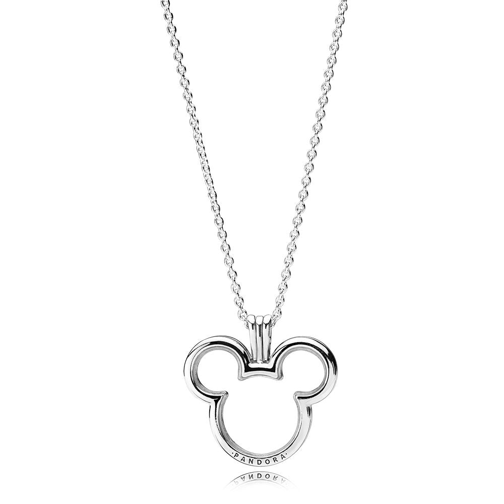 PANDORA Disney Mickey Floating Locket Necklace