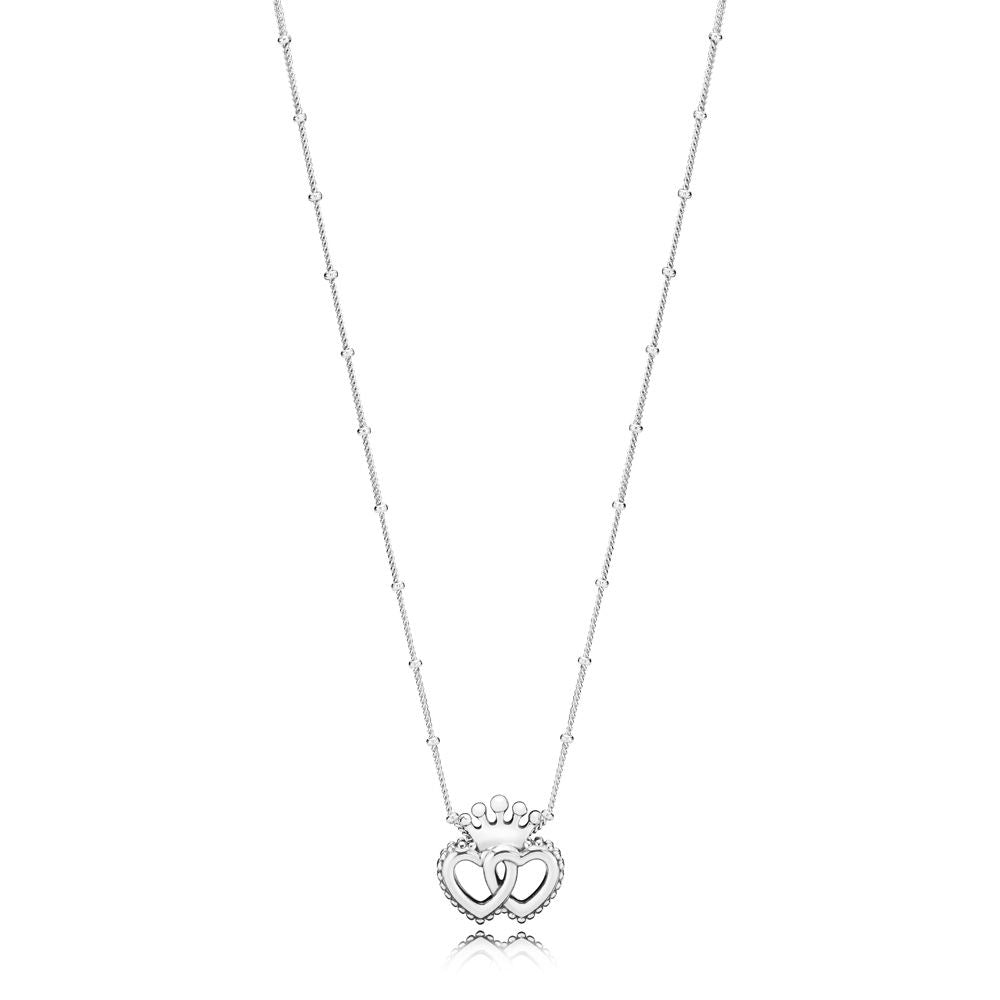PANDORA United Regal Hearts Necklace -