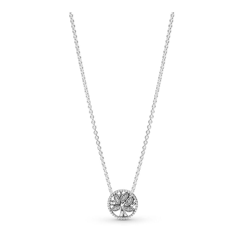 PANDORA Tree of Life 925 Sterling Silver Necklace - Size: 17.7 inches -