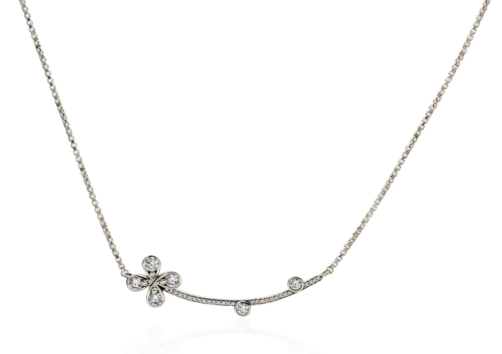 PANDORA Four-Petal Flower Necklace
