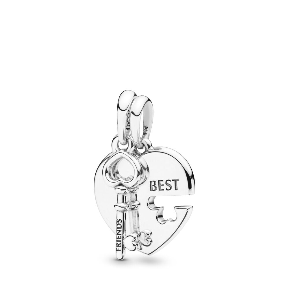 PANDORA Best Friends Heart & Key Necklace Pendant -