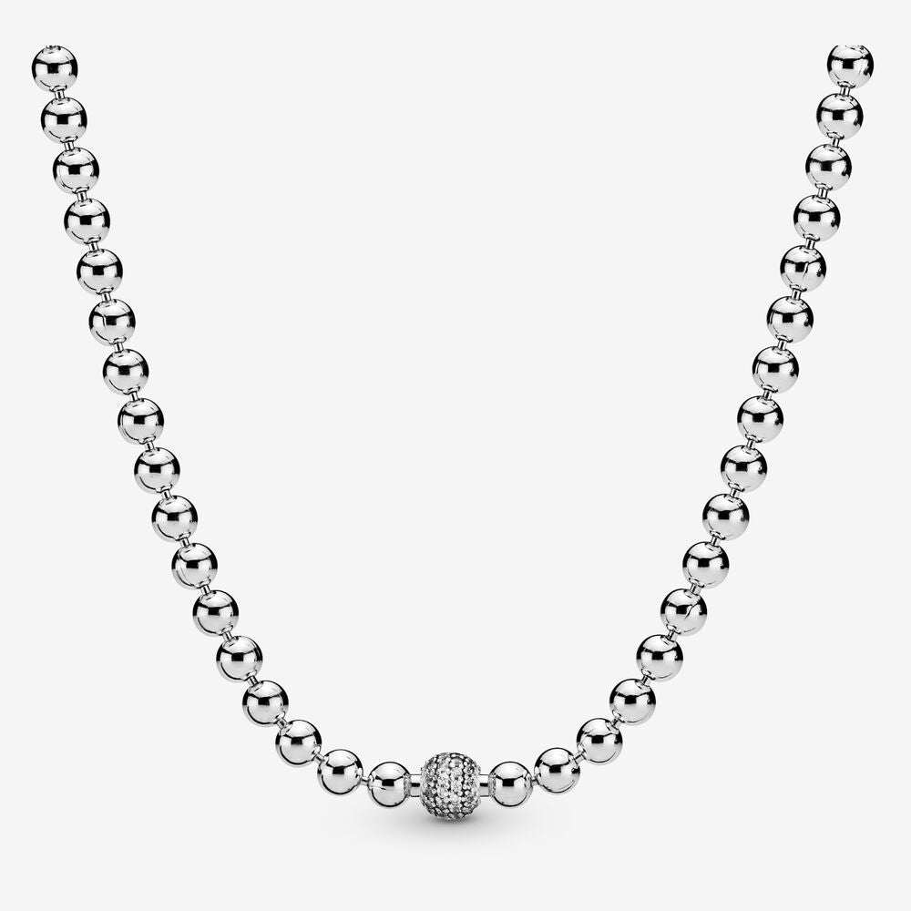 PANDORA Beads & Pave Necklace