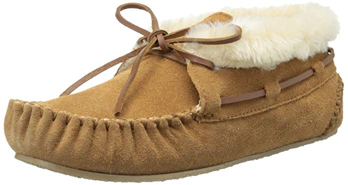 Minnetonka Womens Chrissy Bootie Moccasin Slipper - Cinnamon - Size 6