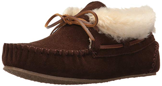 Minnetonka Womens Chrissy Bootie Moccasin Slipper - Chocolate - Size 6