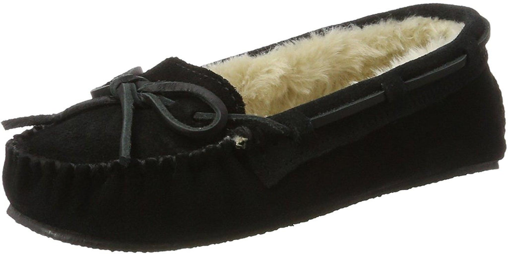 Minnetonka Womens Cally Slipper - Black - 7 M US