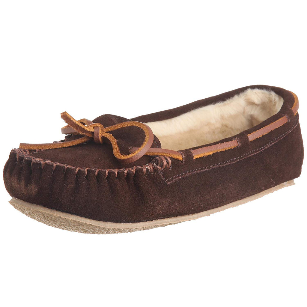 Minnetonka Womens Cally Slipper - Chocolate - 5 M US