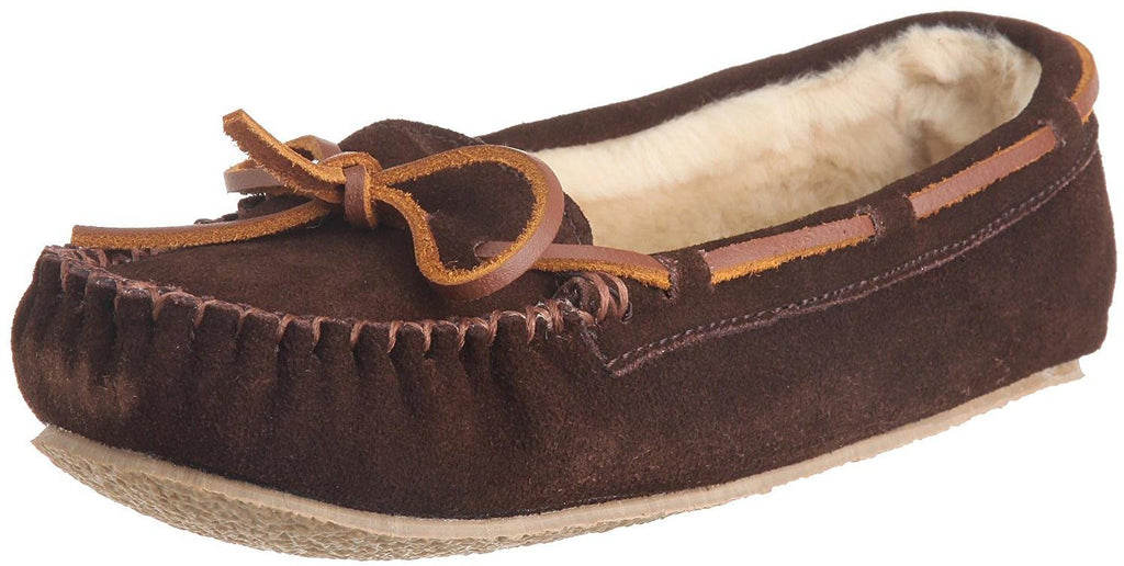Minnetonka Womens Cally Slipper - Chocolate - 6 M US
