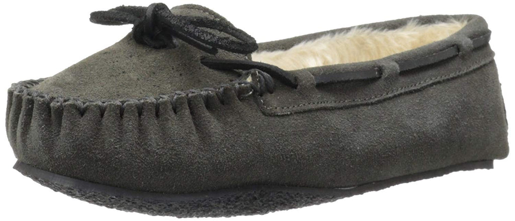 Minnetonka Womens Cally Slipper - Grey - 5 M US