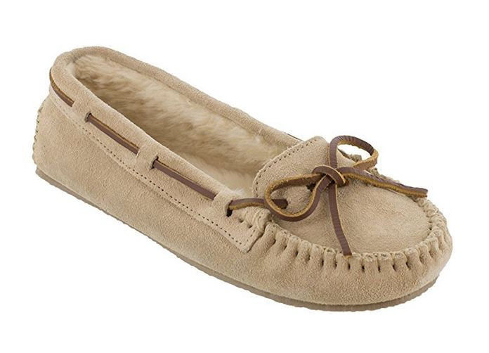 Minnetonka Womens Cally Moccasin Slipper Stone - Size 8 - 4018-8