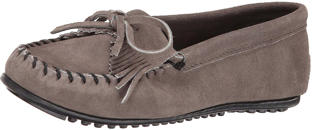 Minnetonka Womens Kilty Moccasin - Grey - 6.5 M US