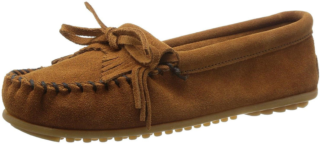 Minnetonka Womens Kilty Moccasin - Brown - 7 M US