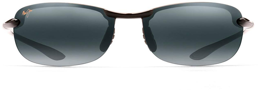 Maui Jim Makaha Rimless Sunglasses - Gloss Black/Neutral Grey Polarized - Medium