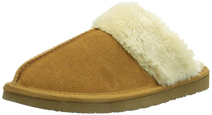 Minnetonka Womens Chesney Fur Lined Slippers - Cinnamon - Size 7