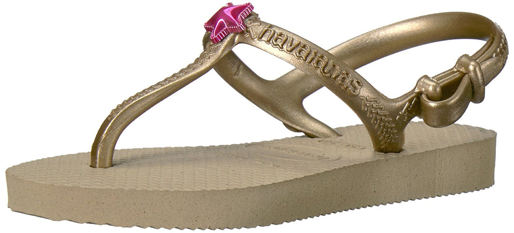 Havaianas Girls Kids Freedom SL Sandal - Sand Gold - 25/26 BR