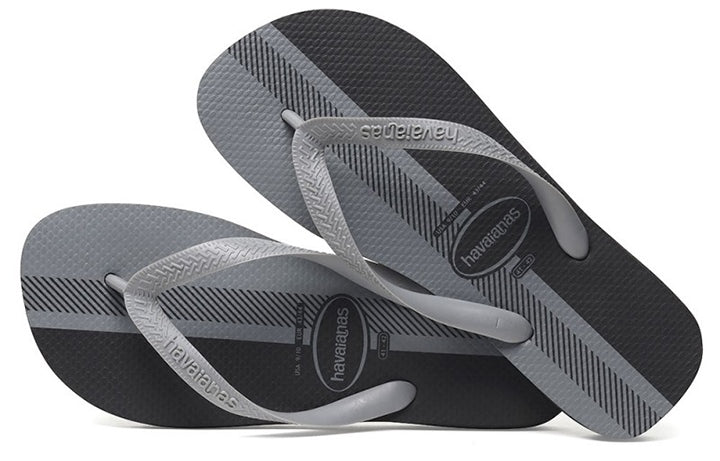 Havaianas Mens Top Conceitos Sandal Flip Flop - Black/Ice Grey - 39 BR