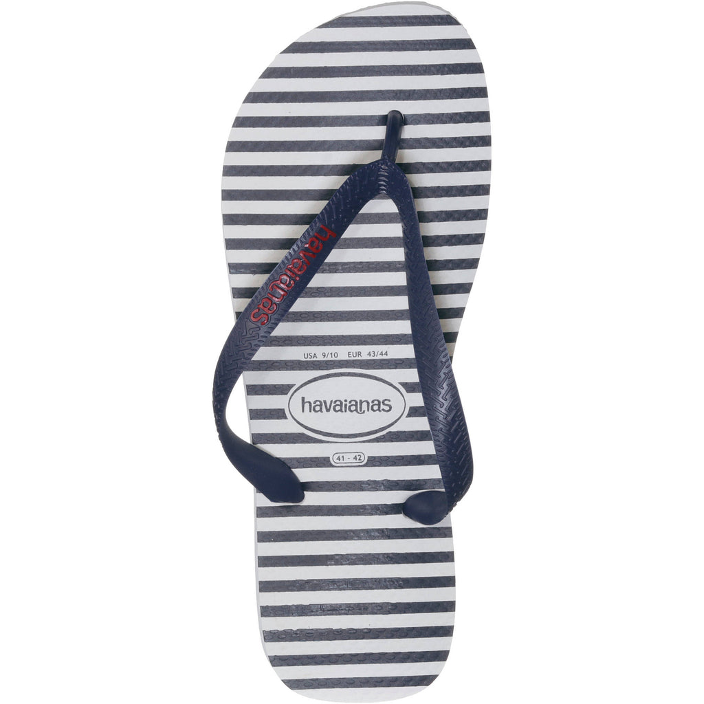 Havaianas Mens Top Nautical Casual Sandals - White - Rubber Size BR 39-40
