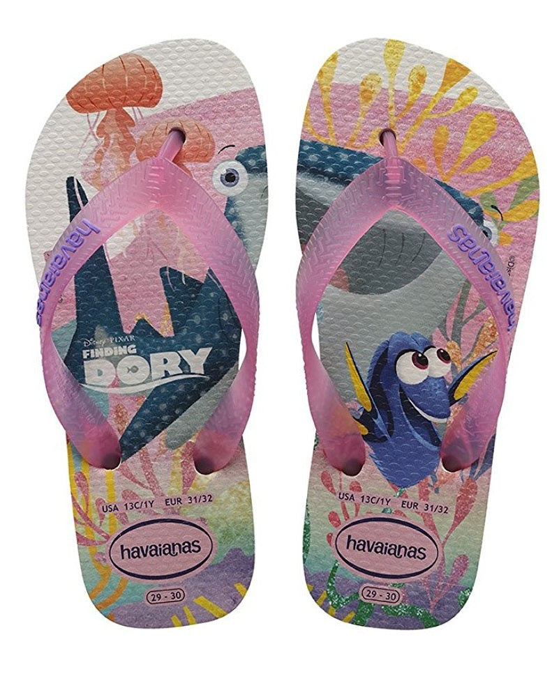 Havaianas Kids Nemo E Dory - White (Man-Made) Childrens Sandals- 31/32 BR
