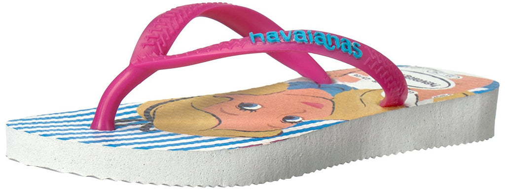 Havaianas Girls Kids Slim Alice Sandal Flip Flop - White/Rose - 23/24 BR