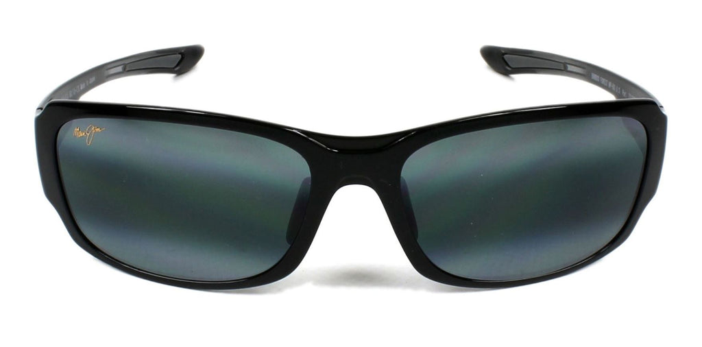 Maui Jim Bamboo Forest Black Gloss Polarised Fade/Grey Sunglasses