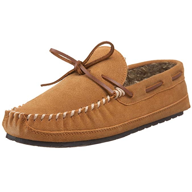 Minnetonka Mens Casey Slipper - Cinnamon - Size 9