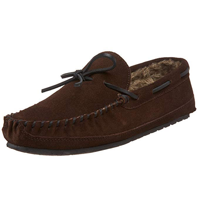 Minnetonka Mens Casey Slipper - Chocolate - Size 8