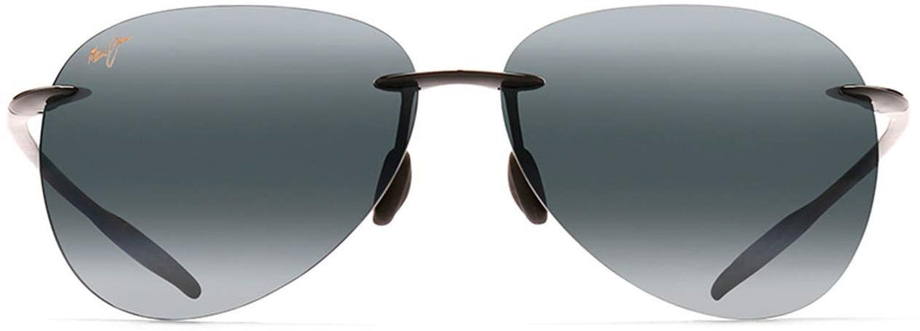 Maui Jim Sugar Beach Aviator Sunglasses - Gloss Black/Neutral Grey Polarized - Large