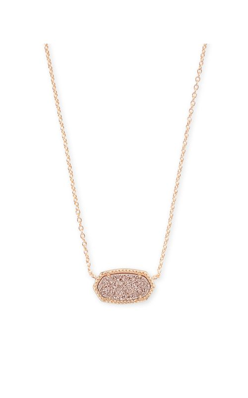 Kendra Scott Elisa Sand Drusy Rose Tone Necklace -