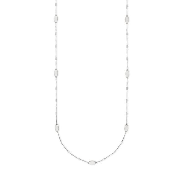 Kendra Scott Franklin Long Necklace In Bright Silver -