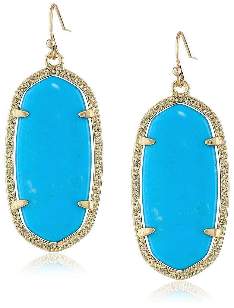 Kendra Scott Signature Elle Gold Plated Turquoise Magnesite Drop Earrings -