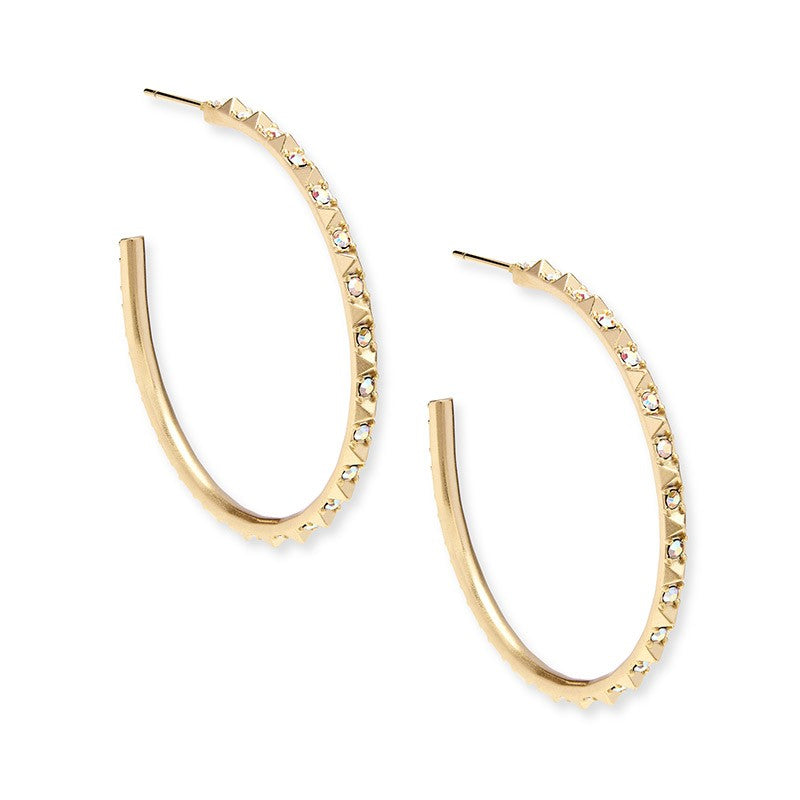 Kendra Scott Veronica Hoop Earrings In Gold -