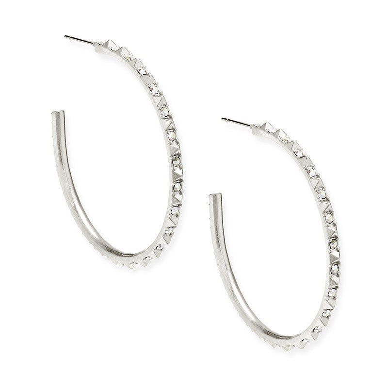 Kendra Scott Veronica Hoop Earrings In Silver -