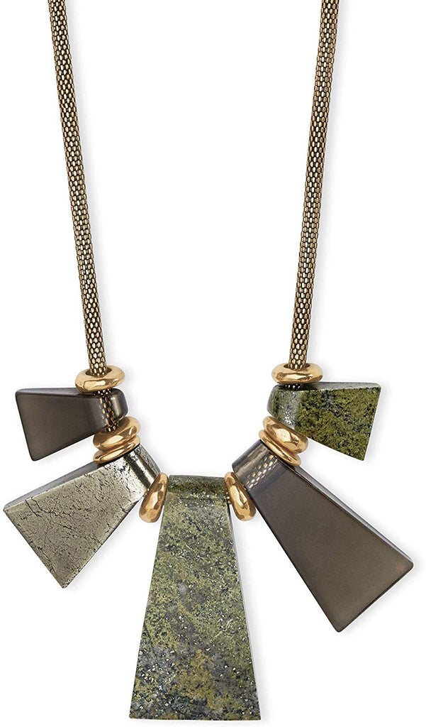 Kendra Scott Rhodes Olive Mix Gold Tone Necklace -