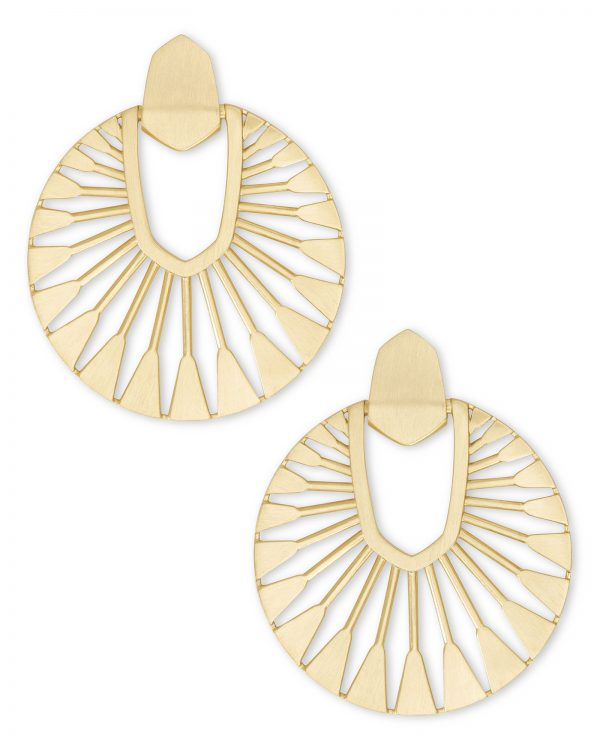 Kendra Scott Didi Gold Metal Drop Earring -