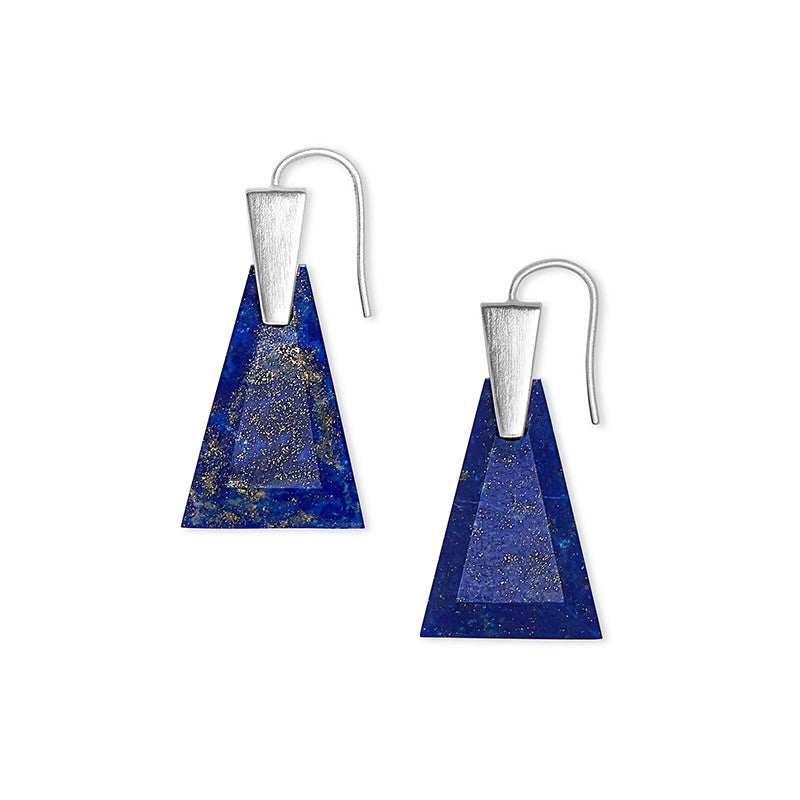 Kendra Scott Collins Small Blue Lapis Bsv Earrings -