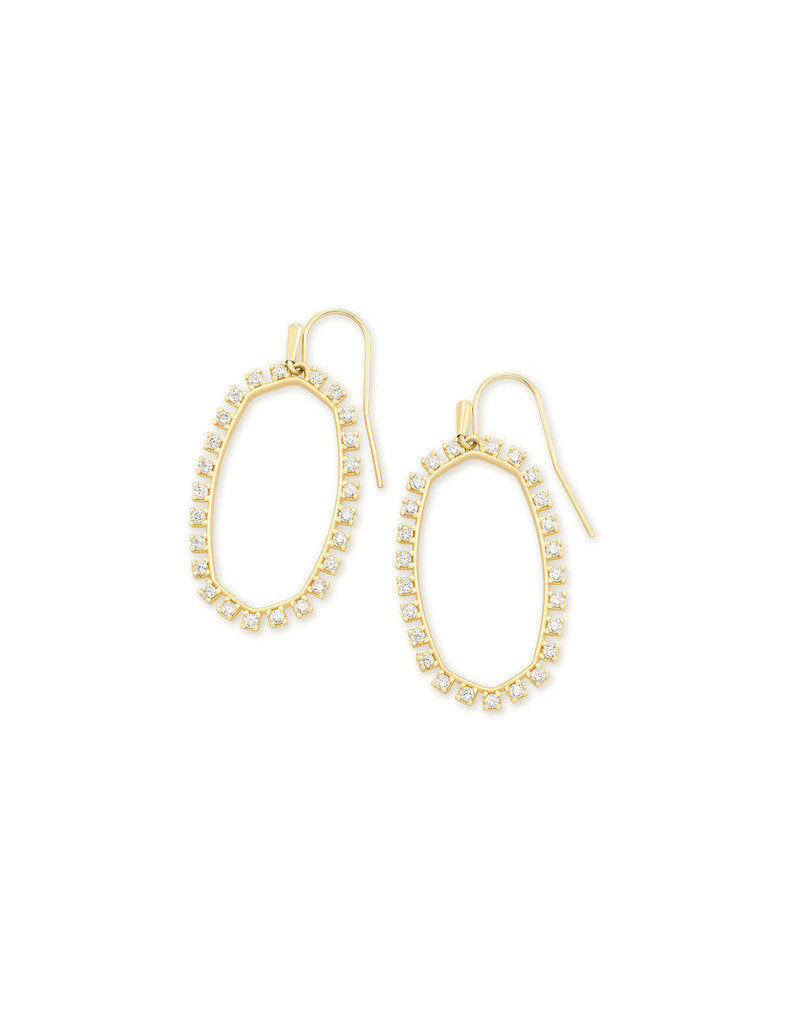 Kendra Scott Elle Gold Open Frame Earrings -
