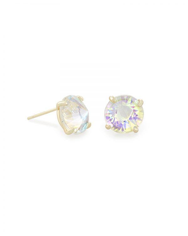Kendra Scott Jolie Gold Stud Earrings In Dichroic Glass -