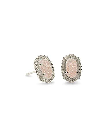 Kendra Scott Cade Stud Earrings in Iridescent Drusy CZ Rhodium