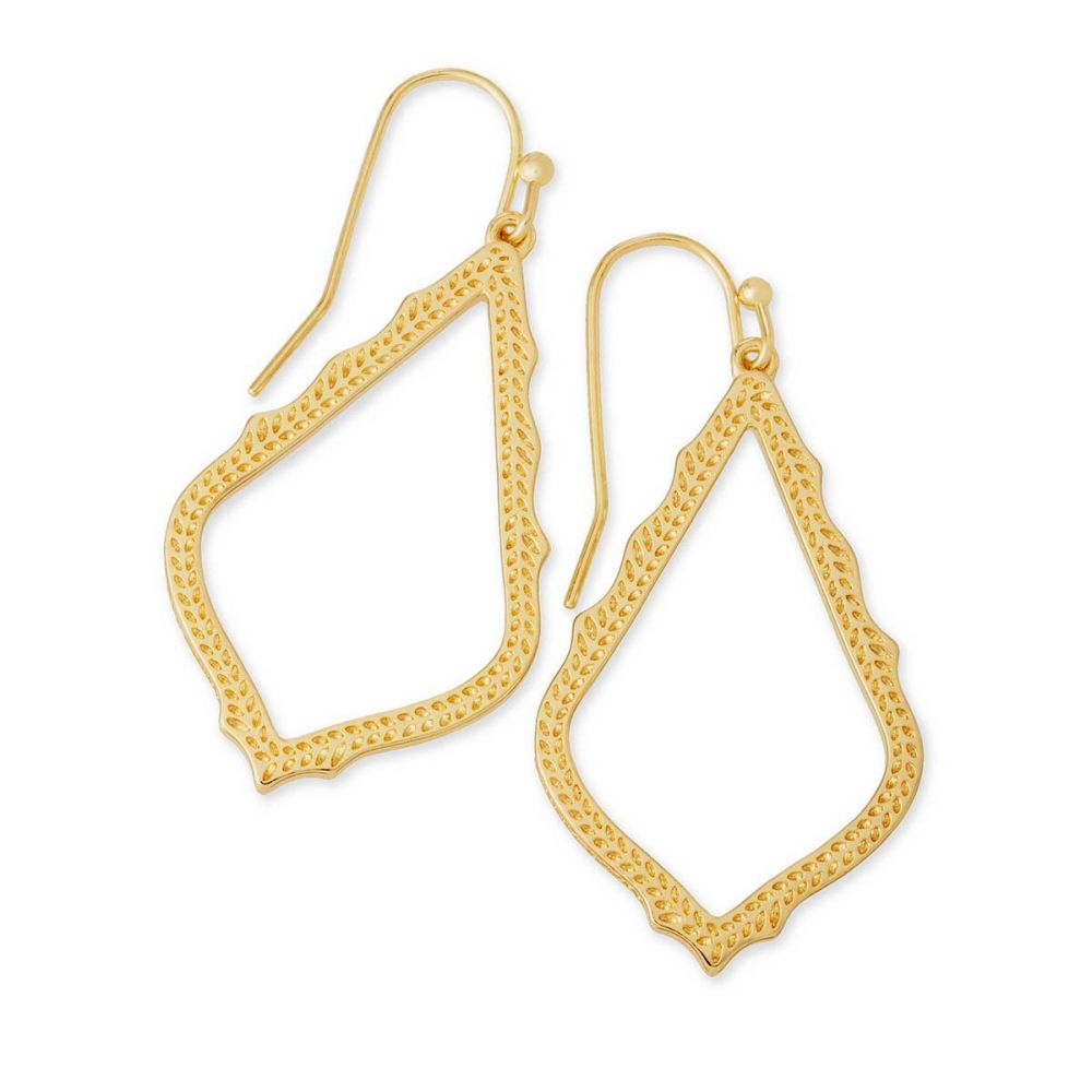 Kendra Scott Sophia Gold Tone Drop Earrings -