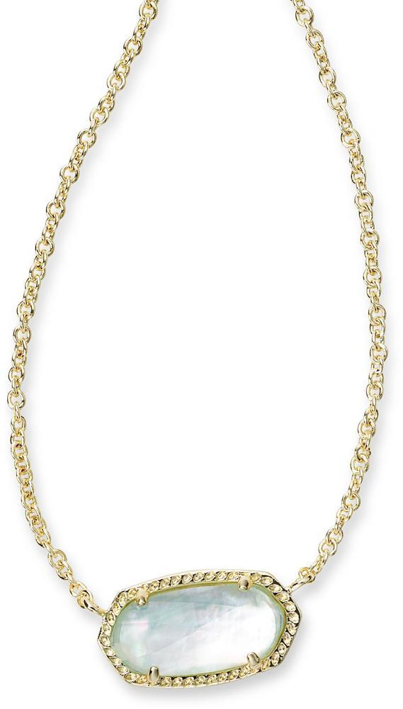 Kendra Scott Elisa Pendant Necklace - Light Blue Illusion -