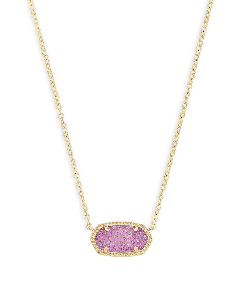 Kendra Scott Elisa Pendant Necklace Gold/Violet Drusy -