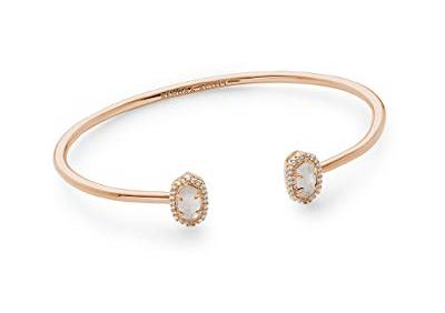 Kendra Scott Calla Cuff Bracelet in Rose Gold and Ivory Mother of Pearl