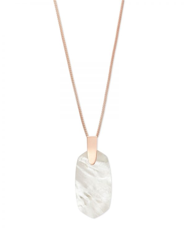 Kendra Scott Pendant Necklace Rose Gold and Ivory Mother of Pearl