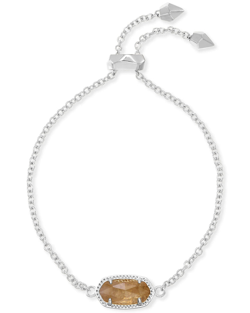 Kendra Scott Elaina Silver Adjustable Chain Bracelet in Citrine November
