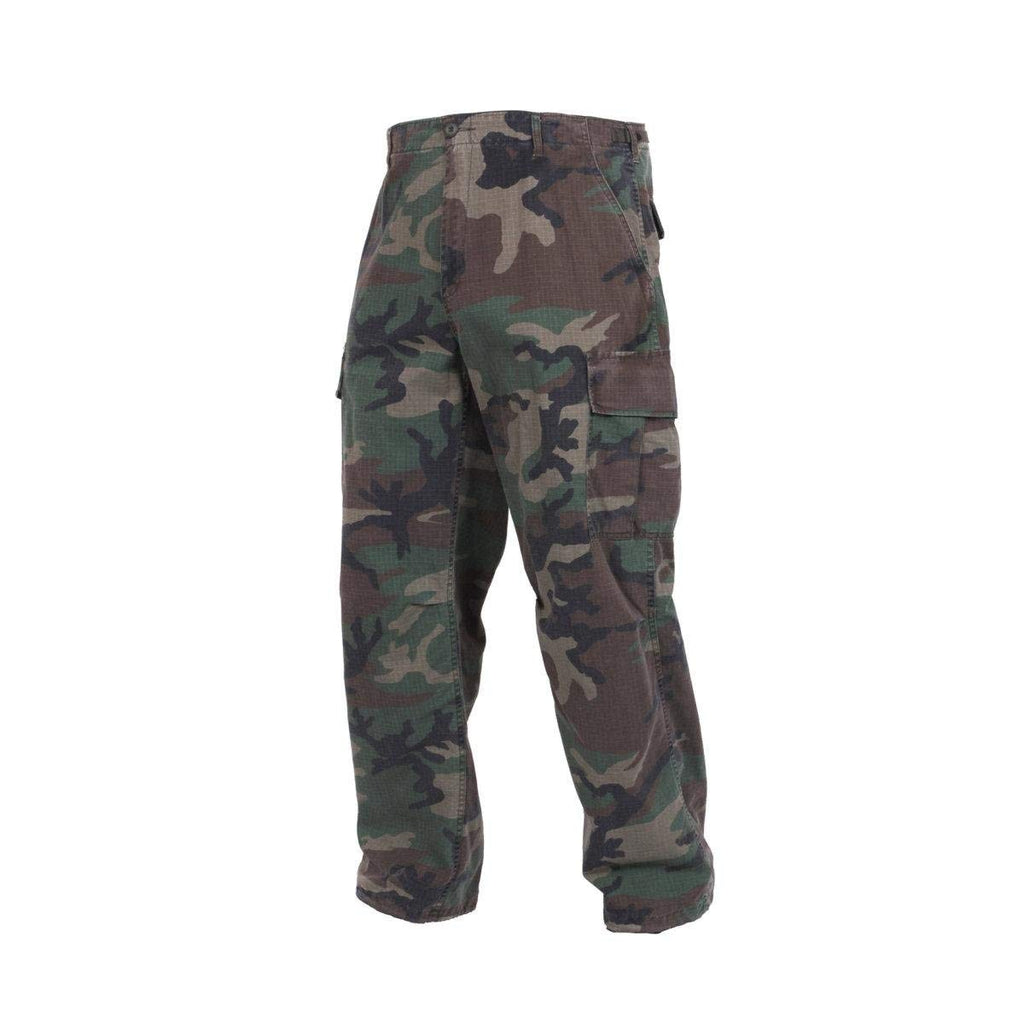 Rothco Vintage R/S Vietnam Fatigue Pants - Woodland Camo - Large -