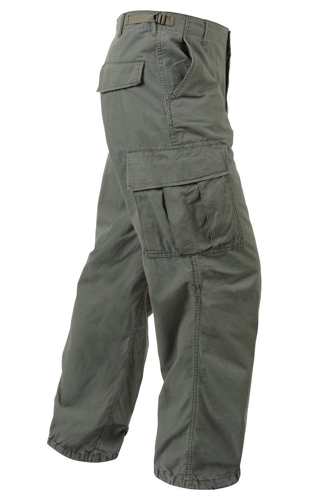 Rothco Vintage R/S Vietnam Fatigue Pants - Olive Drab - Small -