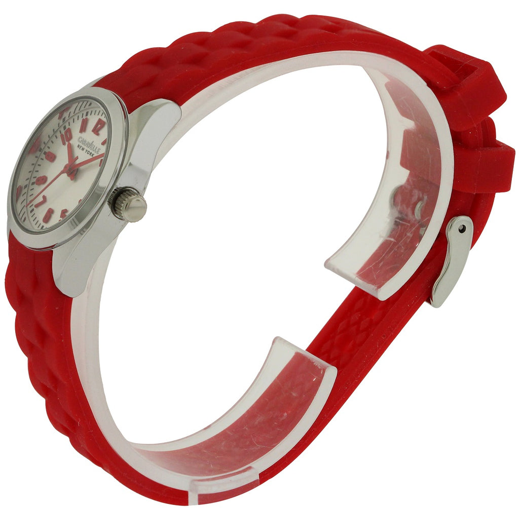 Caravelle New York Red Silicone Ladies Watch