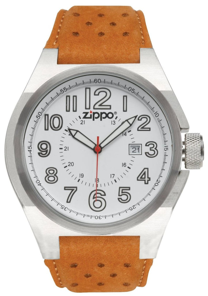 Zippo Leather Mens Watch