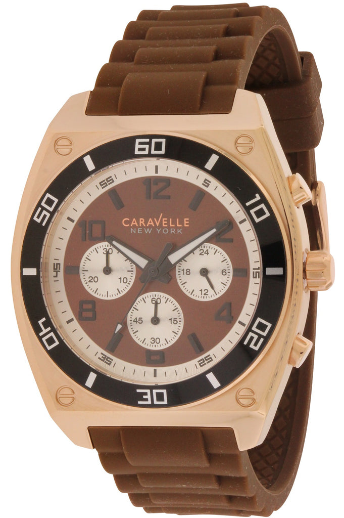 Caravelle New York Chronograph Rubber Mens Watch